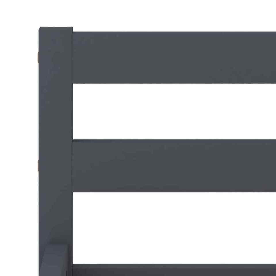 Giroletto Grigio in Legno Massello di Pino 140x200 cm 5