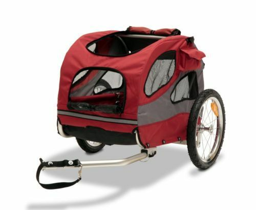 The Dutch Dog Design Mini trailer from DoggyRide is a small and highly  versatile trailer for anyone with small dogs. The dog trailer comes in a  variety of ...
