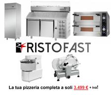 Kit attrezzatura pizzeria completa RISTOFAST nuova prezzo usata
