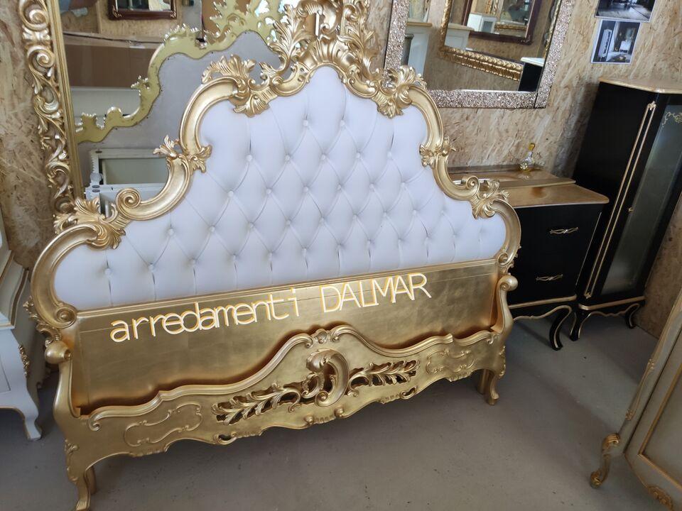 Letto matrimoniale stile barocco foglia oro. 5