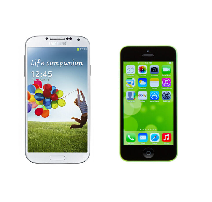 Samsung Galaxy S4 vs. iPhone 5C