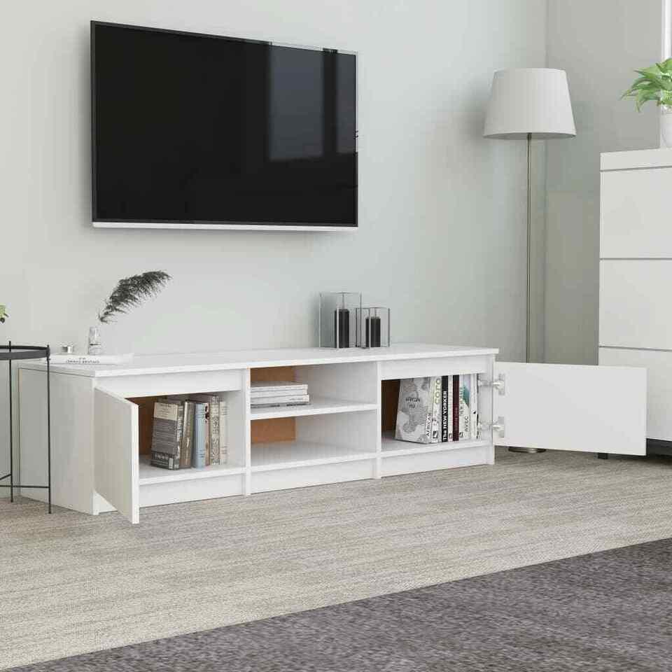 Mobile TV Bianco 140x40x35,5 cm in Truciolato 4