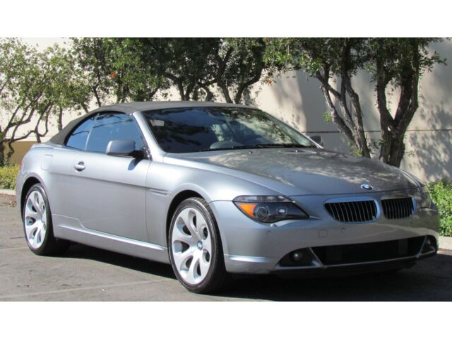 05 Bmw 645i Convertible Navigation Sport Leather Heated
