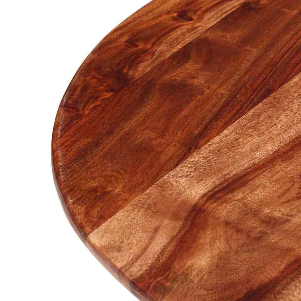 Tavolo da Pranzo in Legno Massello di Sheesham 120x77cm 7