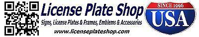 License Plate Shop