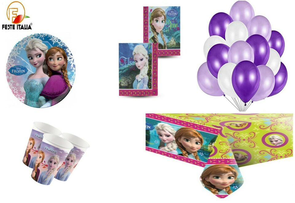 Kit party frozen compleanno a tema Principesse
