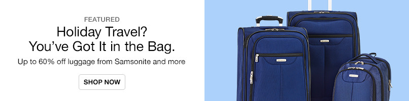 Up to 60% off Luggage for Holiday Travel