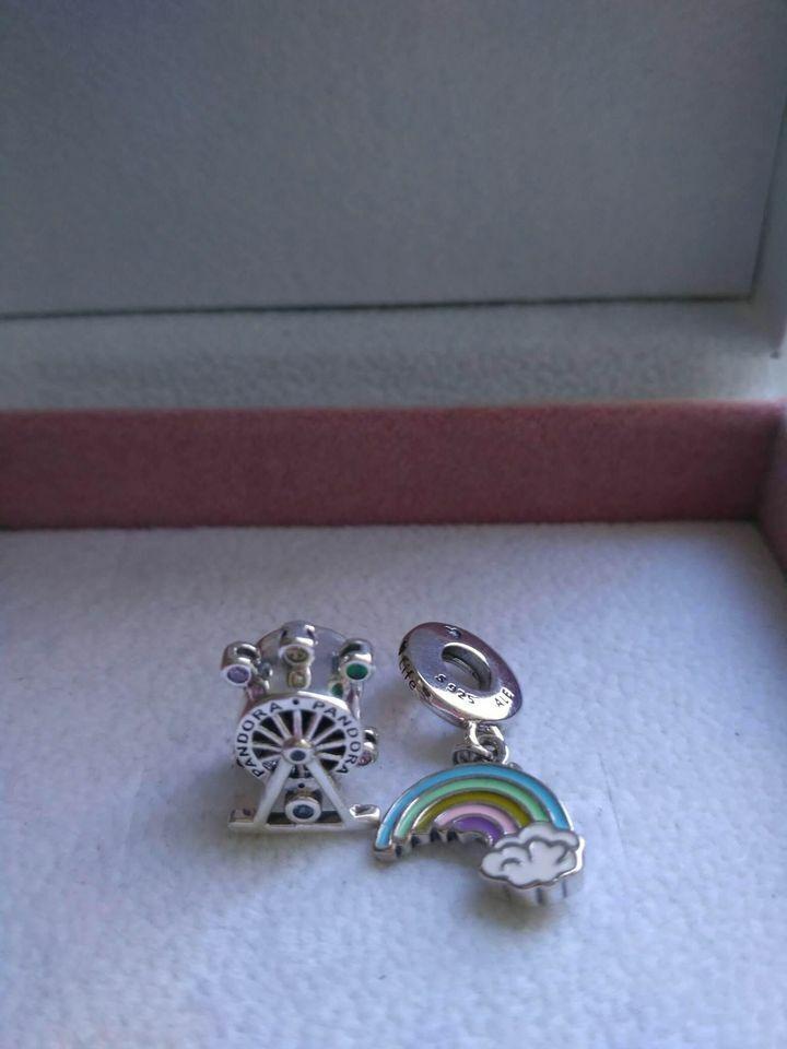 Pandora Charm Ruota panoramica e Arcobaleno D'amore
