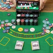 Set cofanetto poker texas holdem fiches chips professionale scatola di