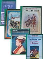 5 libri ragazzi Piccolo Lord Fabiola Richiamo Foresta Principe
