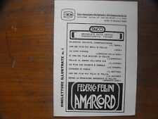 Federico Fellini- Amarcord- cineletture illustrate n.1 16pp