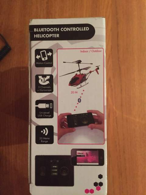 Bluetooth controlled helicopter per iPod iPhone iPad 2
