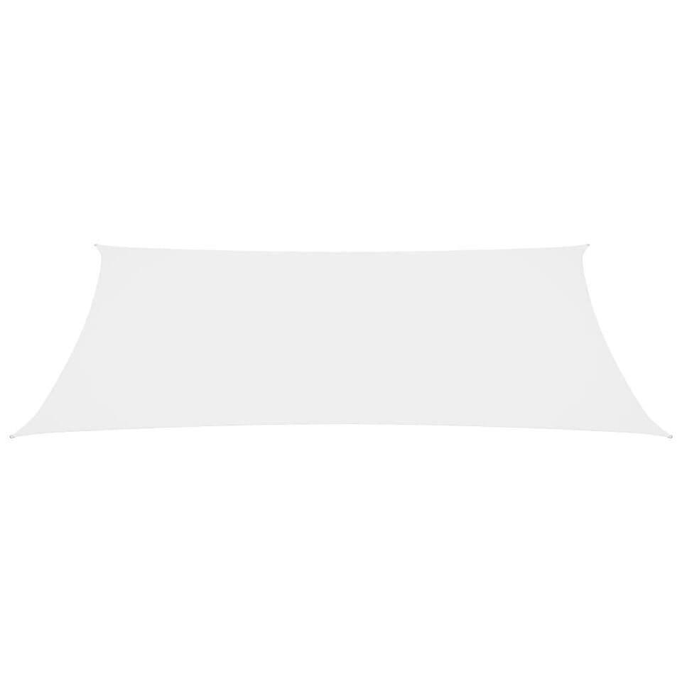 Parasole a Vela in Tessuto Oxford Rettangolare 3x6 m Bianco 3