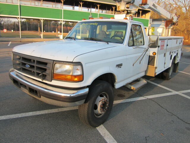 1997 ford f450 superduty powerstroke diesel 7 3 bucket truck used ford f 450 for sale in. Black Bedroom Furniture Sets. Home Design Ideas