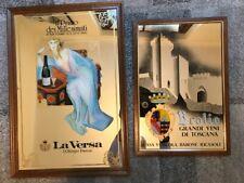 N.2 vetrofanie a specchio pubblicitarie con soggetto vini