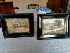 Coppia di quadretti paesaggi (olio su tavola)