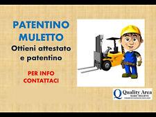Patentino Carrello Elevatore (MULETTO) - PISTOIA