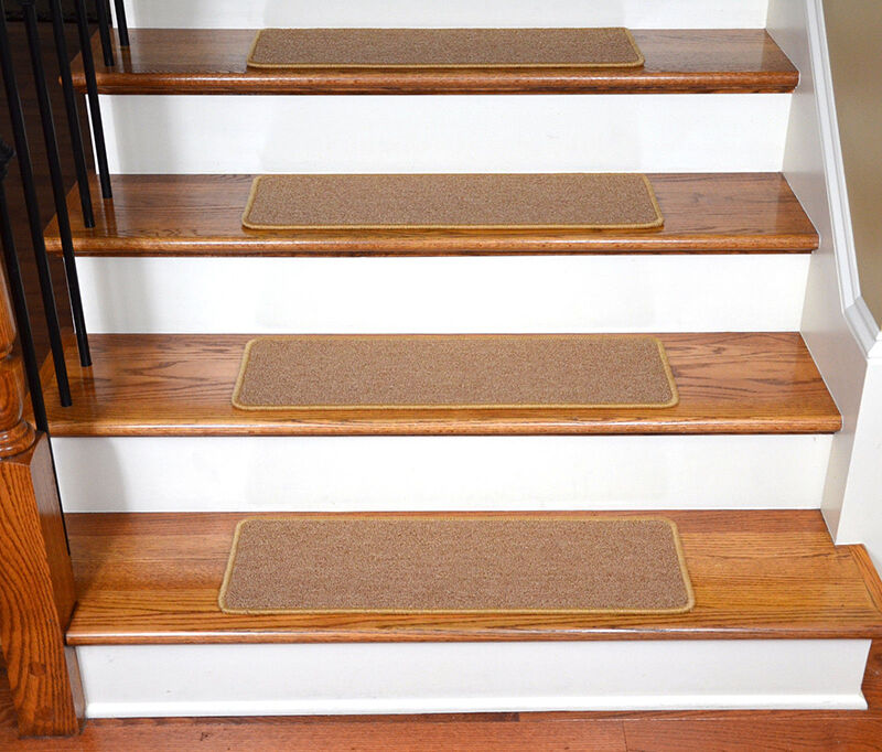 Dean Flooring Peel And Stick Stair Treads Are Available In An Array Of  Colors And Sizes. The ST 061512H Is A Set Of 13 Camel Colored Runner Rugs  Made Of 100 ...