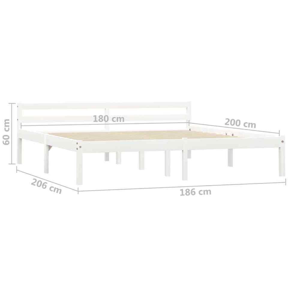 Giroletto Bianco in Legno Massello di Pino 180x200 cm 7