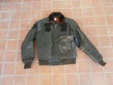 A2 - italian leather flight pilot bomber jacket w/fur collar