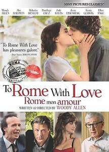To Rome With Love DVD, 2013 Woody Allen Homage To Italy And Italian Cinema - $3.00
