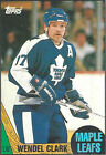 Wendel Clark Not Autographed Single Hockey Trading Cards