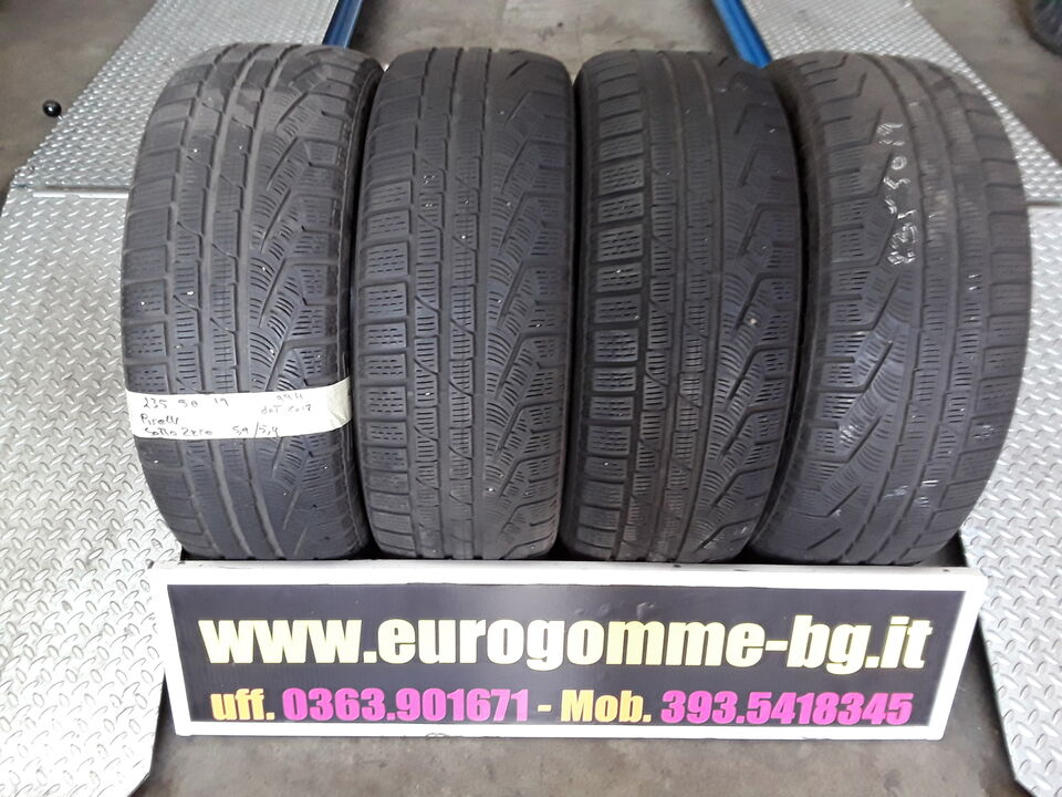 4 gomme usate Pirelli 235 50 19 99h invernale 3