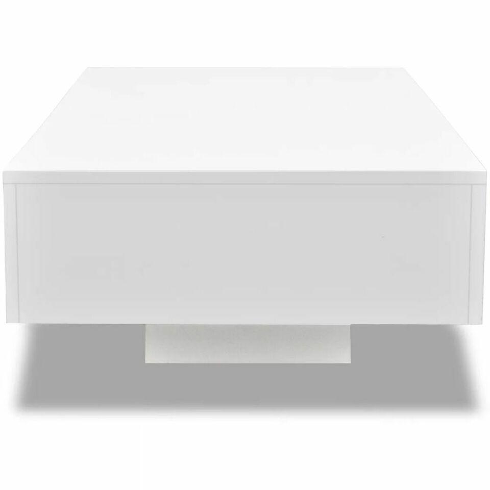 Tavolino da Caffè Lucido Bianco 4