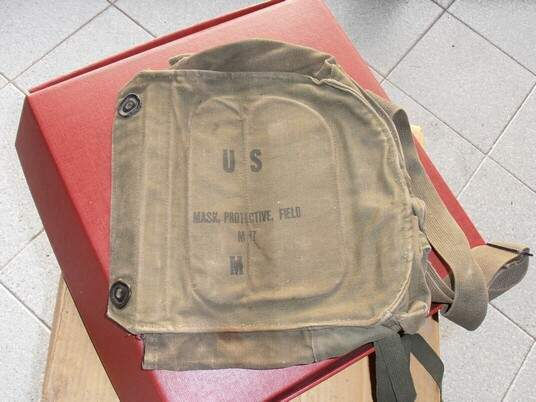 Us army field bag canvas protective gas mask m.17
