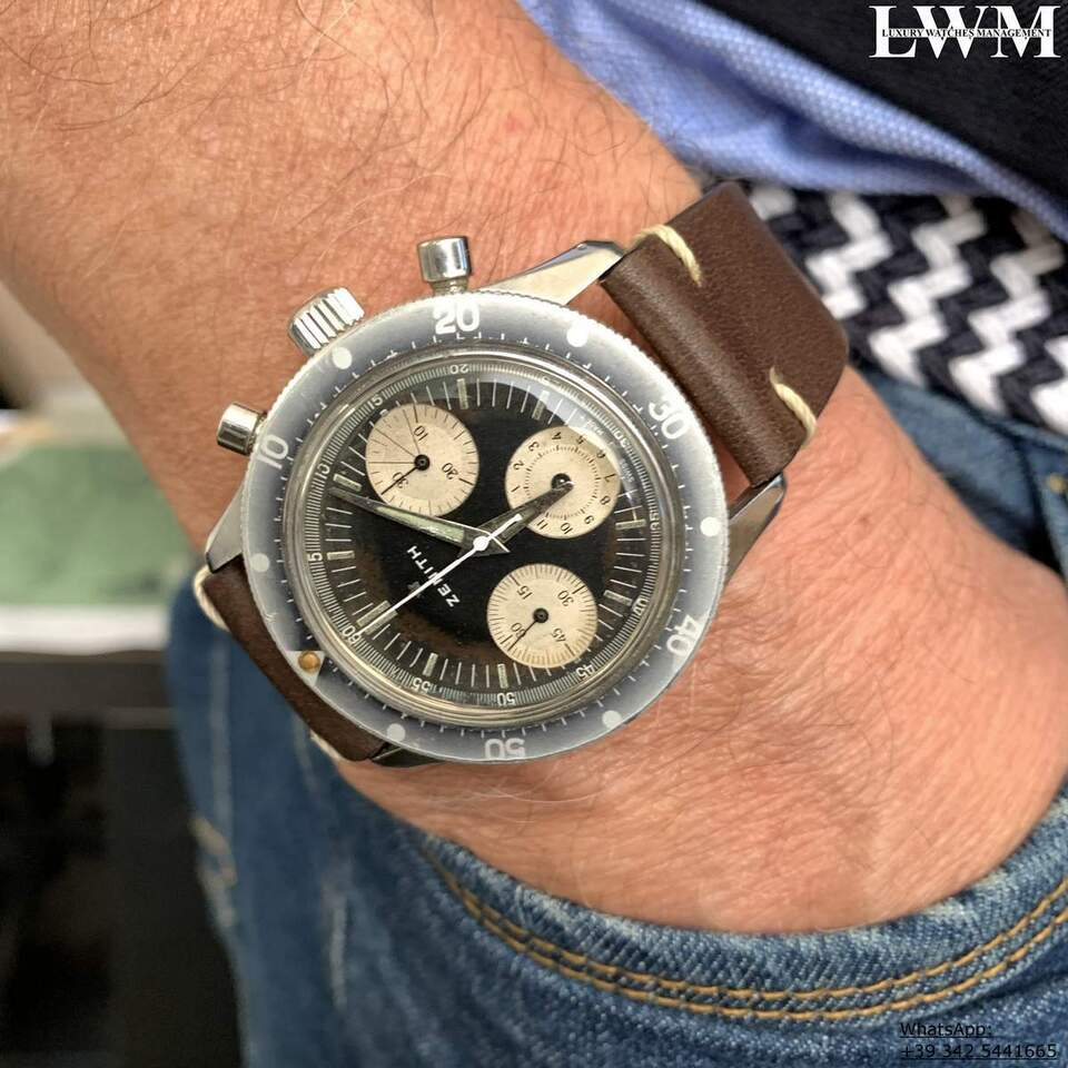 ZENITH Chronograph A277 Sub Sea Diver first series Ghost 1960 2