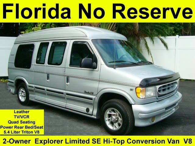 no reserve hi bid wins 2 owner explorer limited se hi top conversion van leather used ford e. Black Bedroom Furniture Sets. Home Design Ideas