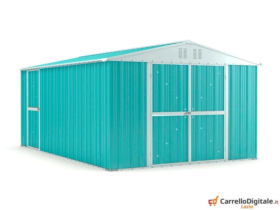 Box capanno acciaio lamiera 327x459cm azzurro