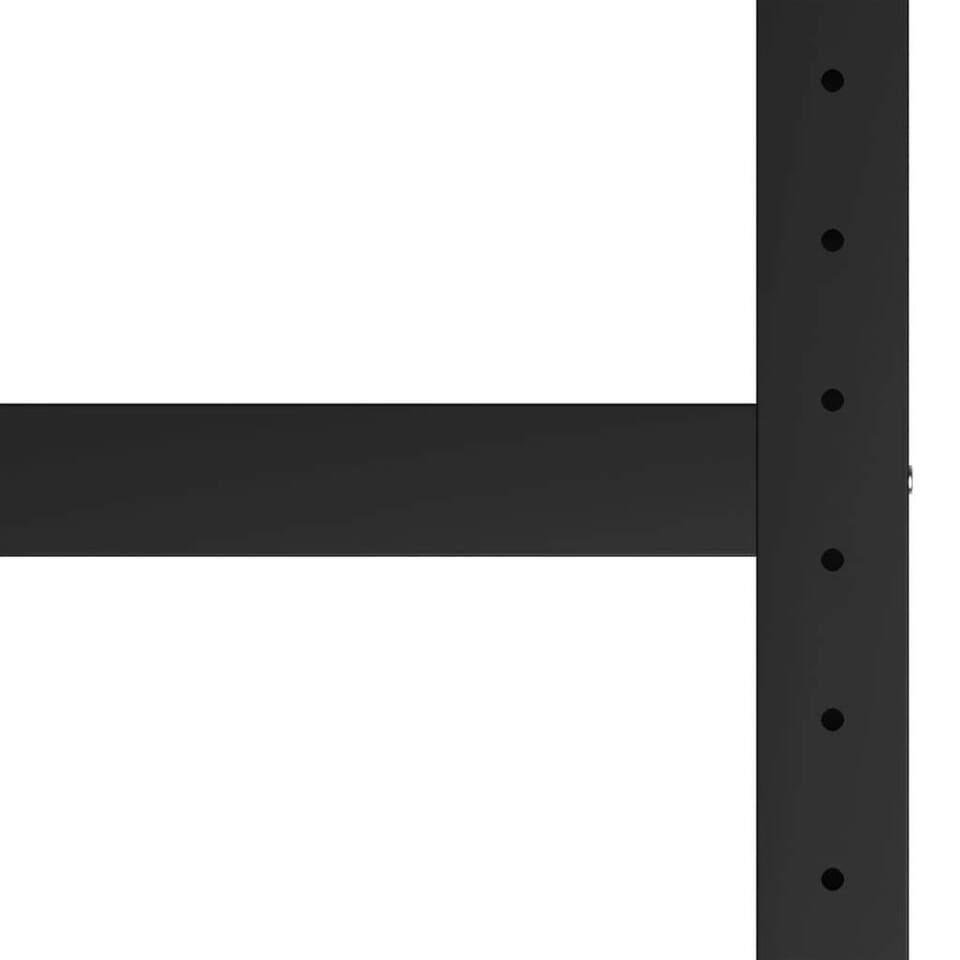 Telaio per Banco da Lavoro in Metallo 175x57x79 cm Nero e Rosso 4