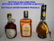 Bottiglia liquore williams alla pera e UNTERTHURNER fragola