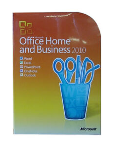 Microsoft Office Home and Business 2010 Product Key Card