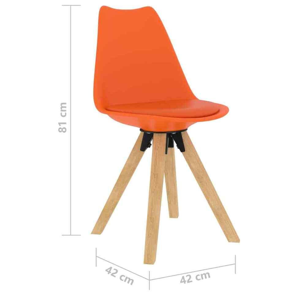 Sedie da Pranzo 4 pz Arancioni 7