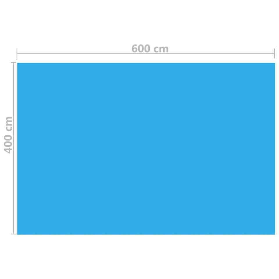 Copripiscina Rettangolare 600x400 cm in PE Blu 3