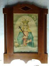 Bella cornice con stampa di icona sacra in legno primi 900