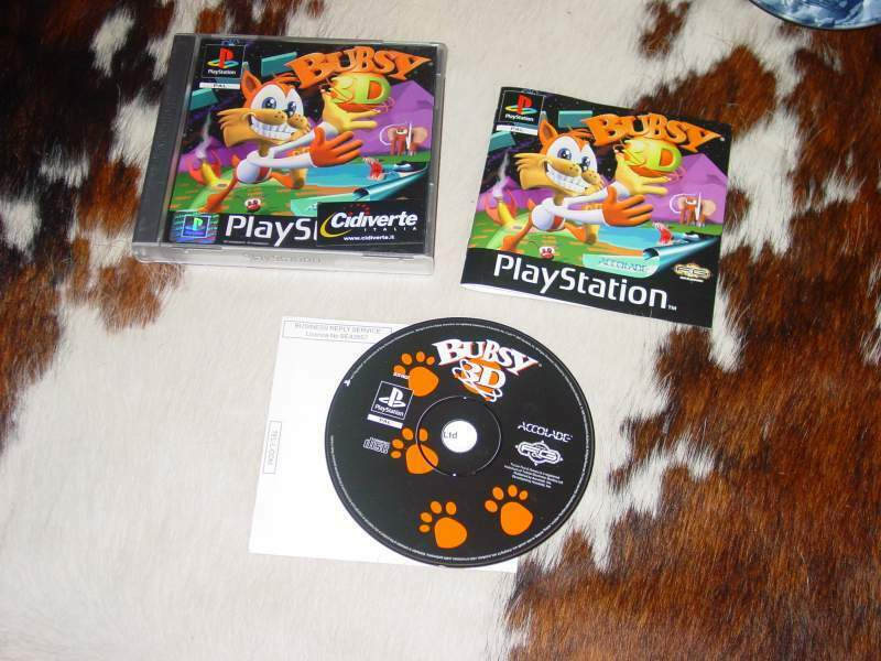 Bubsy 3d - originale per psx ps1 playstation - da collezione