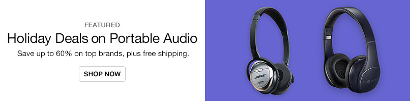 Top-Brand Portable Audio Up to 60% Off