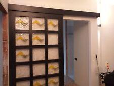 Porta scorrevole con vetri di murano