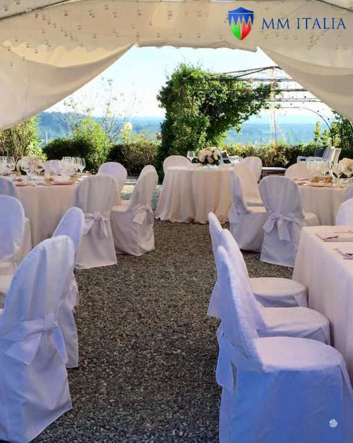Tendoni Gazebo per Matrimoni Eventi, Catering MM Italia