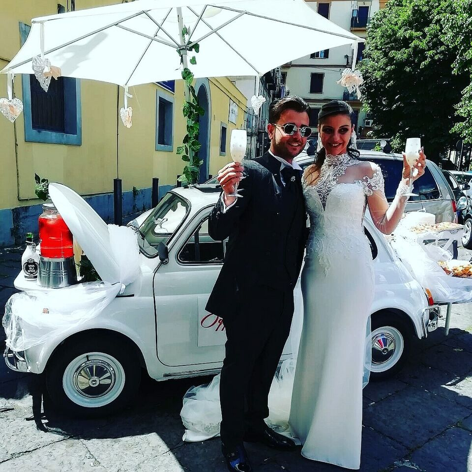 Noleggio Fiat 500 per matrimonio cerimonie ed eventi.