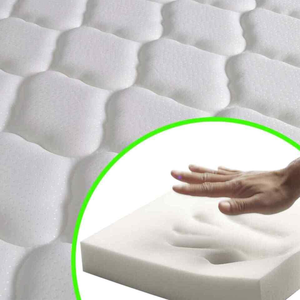 Letto con Materasso Memory Foam Tessuto Verde 120x200cm 3