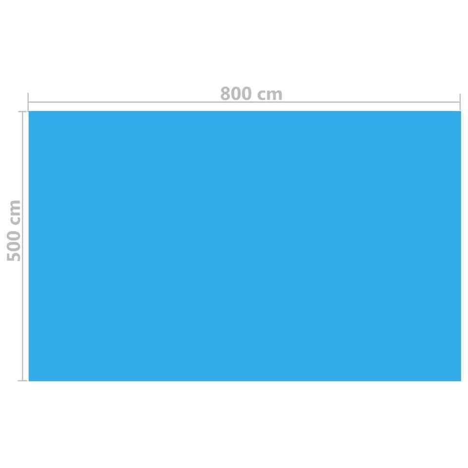 Copripiscina Rettangolare 800x500 cm in PE Blu 3