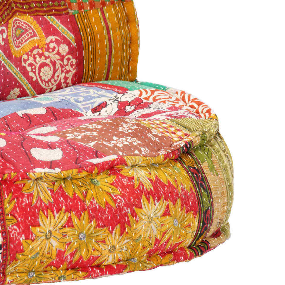 Pouf 100x20 cm in Tessuto Patchwork 6