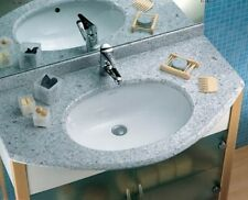 Lavabo agordo incasso sottopiano ceramica dolomite bianco