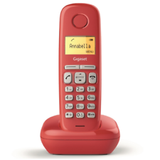 Gigaset a170 cordless dect rubrica red