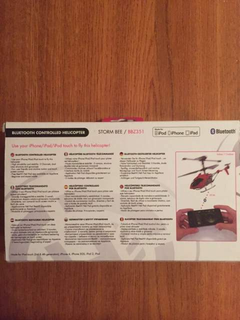 Bluetooth controlled helicopter per iPod iPhone iPad 4