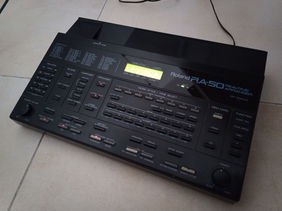 Roland ra-50 realtime arranger synth made in japan